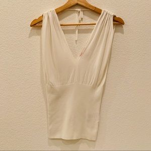 Guess White Sleeveless Top